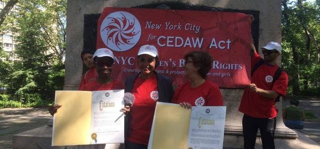 NYC4CEDAW Act Coalition Recognized by the Borough of Brooklyn  with Citation
