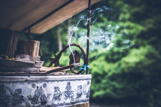 Incense sends messages up to the skies