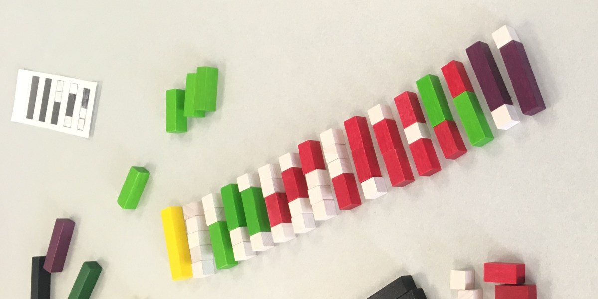 Making Trains from Cuisenaire Rods