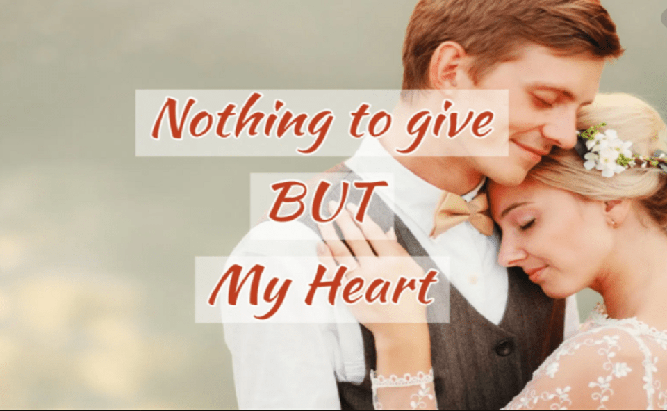 Image Of Nothing To Give But My Heart Novel