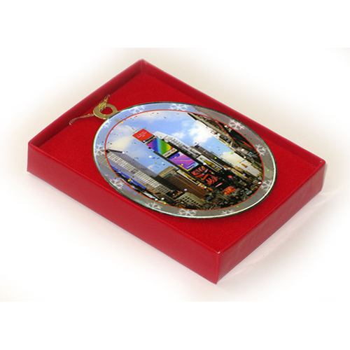 Times Square North New York Christmas Ornament in a Gift Box