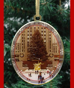 Rockefeller Center Skating Rink New York Christmas Ornament from NY Christma Gifts