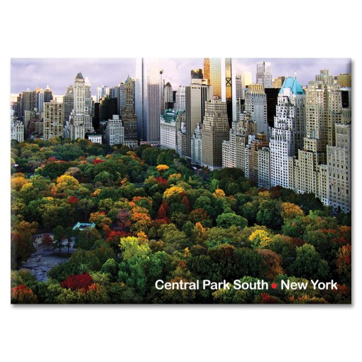 Central Park South Panorama New York Photo Magnet