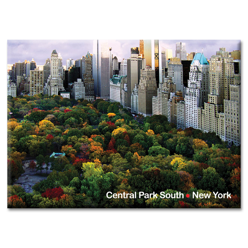 Central Park South Panorama – New York Photo Magnet