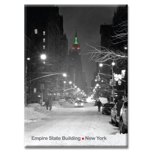 Empire State Building Christmas New York Photo Magnet