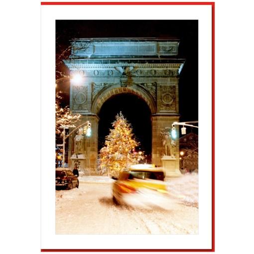 Washington Arch Christmas Tree - Handmade Photo Card