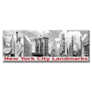 New York City Landmarks Panorama Photo Magnet from NY Christmas Gifts