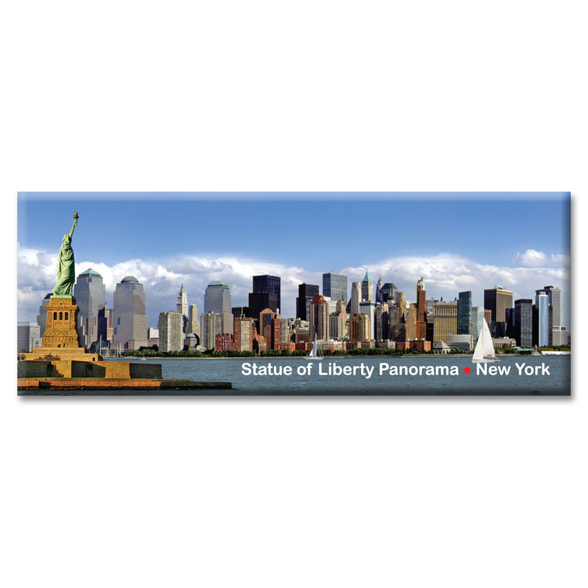 Statue of Liberty and Downtown Manhattan Panorama – New York Photo Magnet