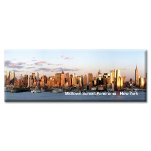 Sunset at Midtown Manhattan Panorama New York Photo Magnet from NY Christmas Gifts