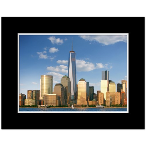 1WTC Freedom Tower Downtown New York Art Prints Poster MP1103 Color Mat Black