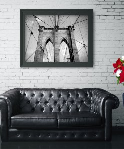 Brooklyn Bridge Ropes Art Print Poster Living Room Decor