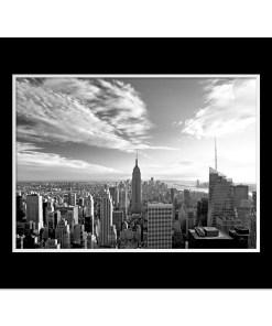 Empire State Building New York Art Print Poster Black Mat MP-1026