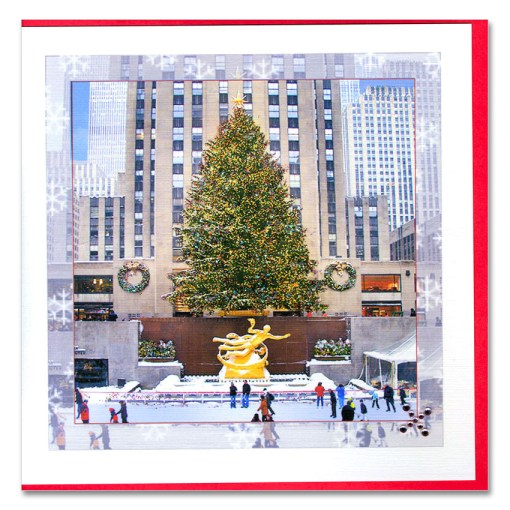 Rockefeller Center Skating Rink Handmade Card HHC9956 from NY Christmas Gifts
