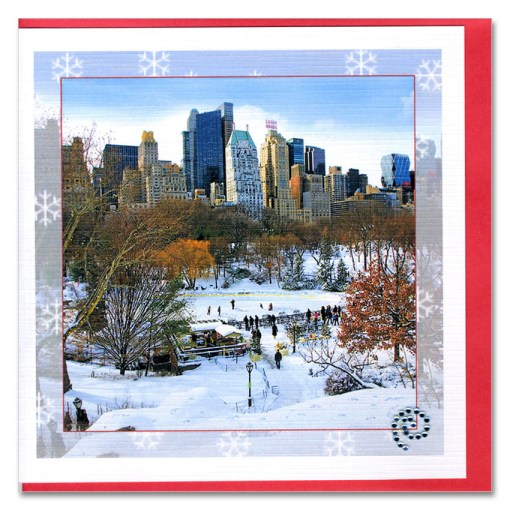 Snow at Wollman Rink in Central Park Handmade Card HHC9924 Santa on Poet Lane in Central Park Handmade Cards HHC9975 Santa on Christopher Street Greenwich Village Handmade Card HHC9357 from NY Christmas Gifts