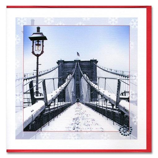 The Brooklyn Bridge Handmade Card HHC9302 from NY Christmas Gifts