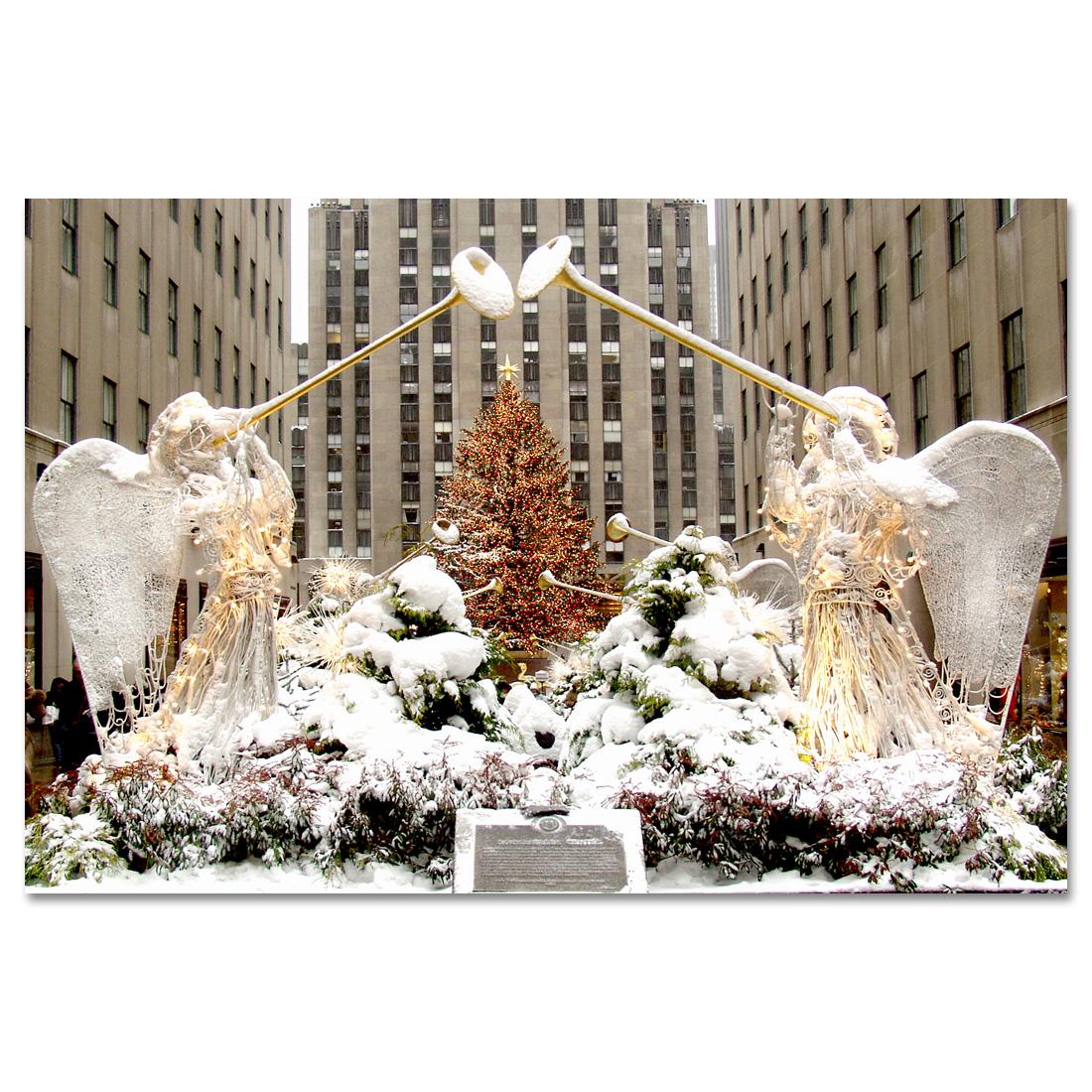 Angels At Rockefeller Center Christmas Tree New York Art