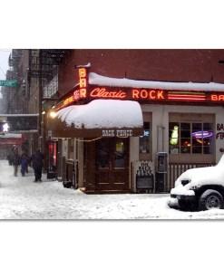 Back Fence Classic Rock Caffee Art Print MP-1441