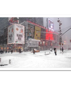 Blizzard on Times Square Art Print Poster MP-1050