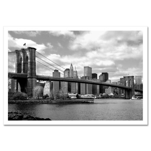 Brooklyn Bridge Panorama New York Art Print Poster MP-1007