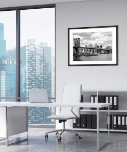 Brooklyn Bridge Panorama New York Art Print Poster Office Decor