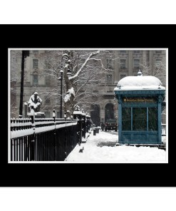 Brooklyn Bridge Subway Station Art Print Poster MP-1445 Black Mat