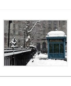 Brooklyn Bridge Subway Station Art Print Poster MP-1445 White Mat