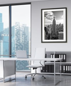 Empire State Building Black and White Art Print Room Decoration