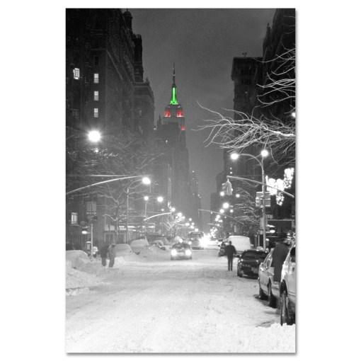 Empire State Building Christmas New York Art Print MP-1149