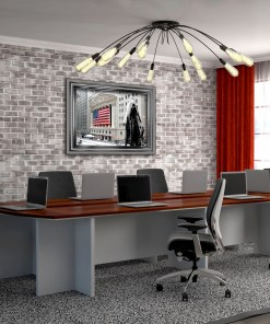 George Washington Wall Street Winter Art Print Conference Room Decor