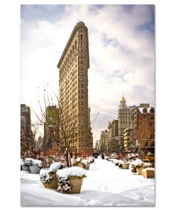 Snow Flatiron Building Art Print MP-1025