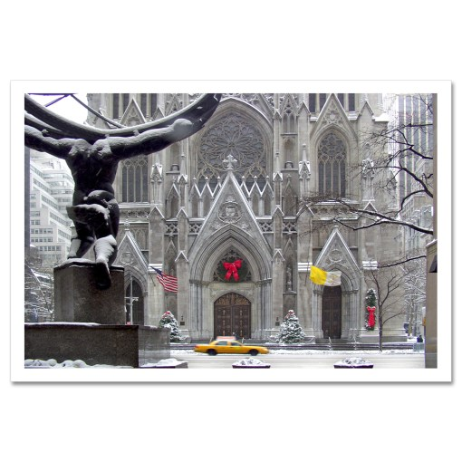 St Patricks Cathedral Christmas Art Print Poster MP-1440