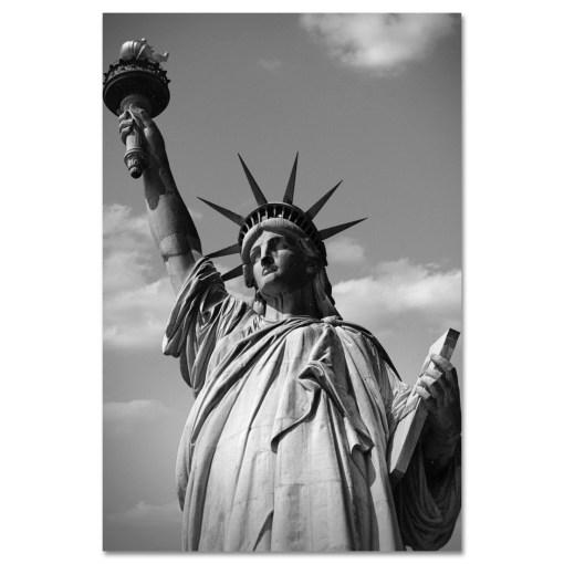 Statue of Liberty Black and White Art Print MP-1170