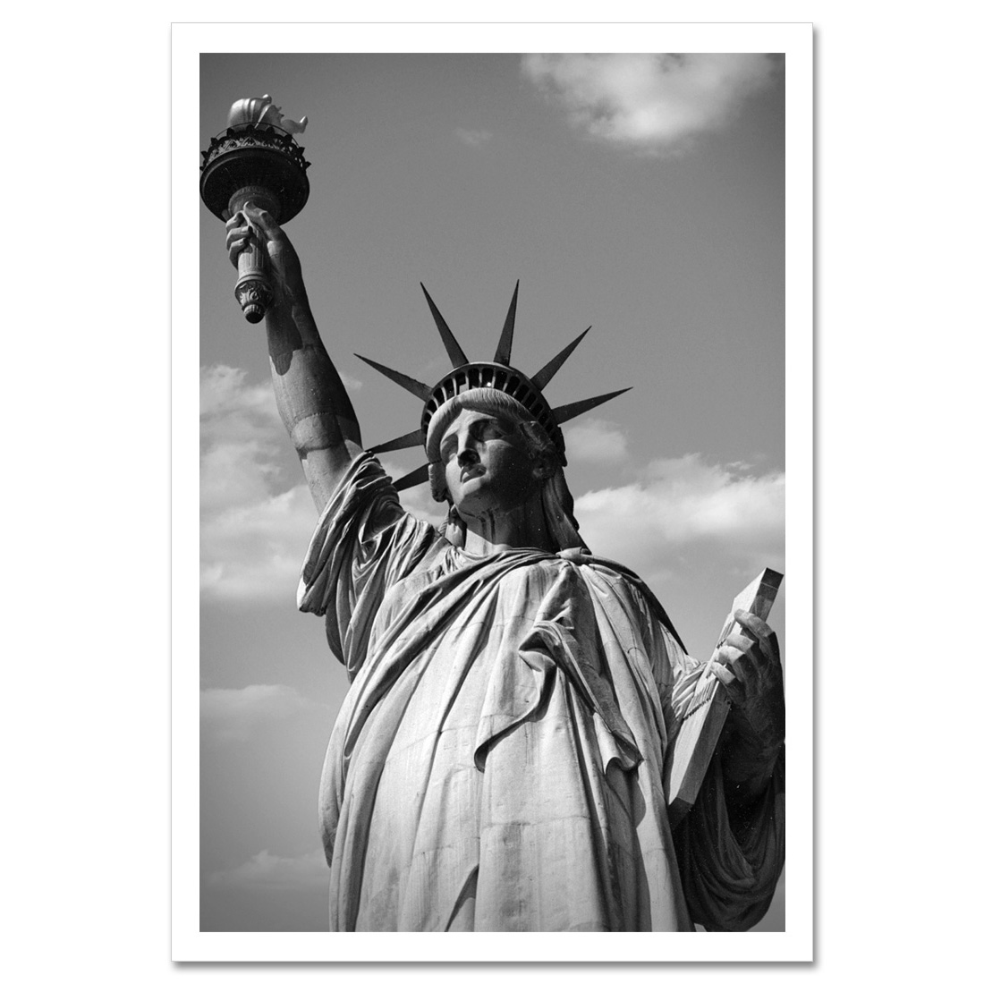 Statue Of Liberty Black And White New York Art Print Ny Christmas Gifts