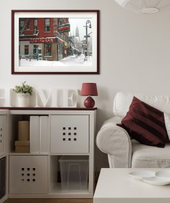 Waverly Restaurant Winter Art Print Poster Living Room Decor