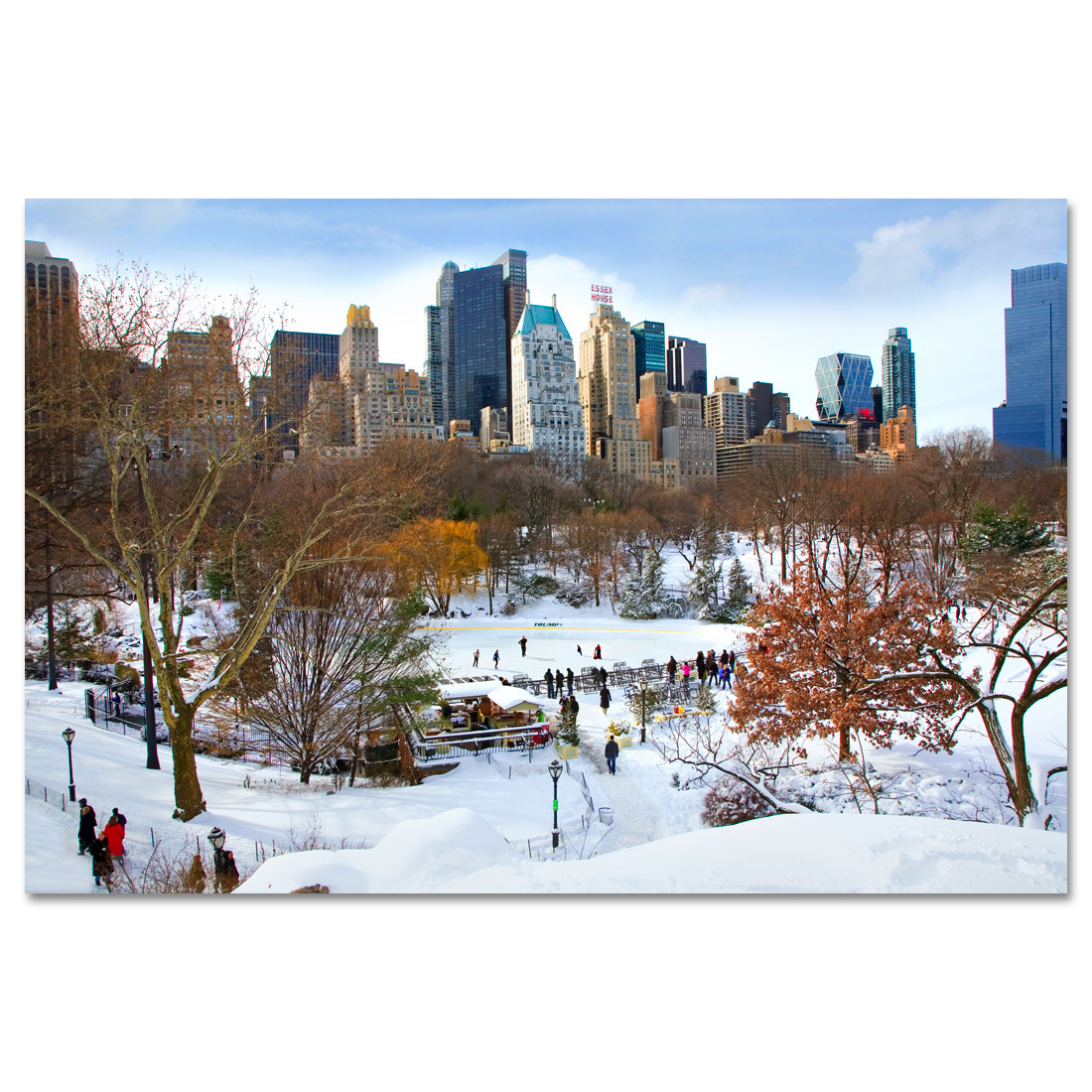 Wollman Rink in Central Park New York Art Print MP-1142