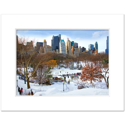 Wollman Rink in Central Park NY Art Print Poster MP-1142 Mat White