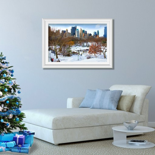 Wollman Rink Central Park NY Art Print Poster Room Decor Christmas Tree
