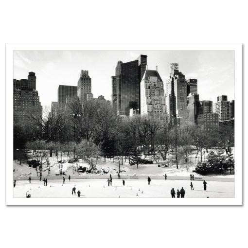 Wollman Rink Panorama Central Park Art Print Poster MP-1042Wollman Rink Panorama Central Park Art Print Poster MP-1042
