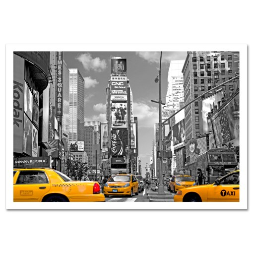 Yellow Cabs on Times Square III Art Print Poster MP-1204