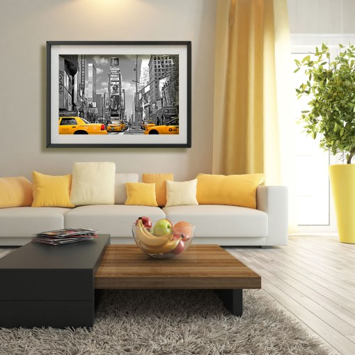 Yellow Cabs on Times Square III Art Print Poster Room Decoration