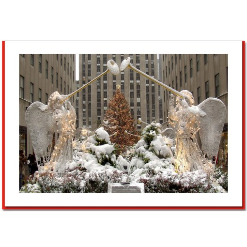 Angels at Rockefeller Center Handmade Photo Card HPC2911