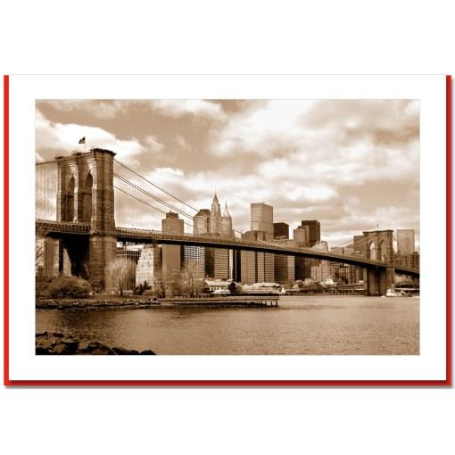 Brooklyn Bridge Panorama Handmade Photo Card HPC2007