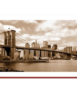 Brooklyn Bridge Panorama Handmade Photo Card HPC2007