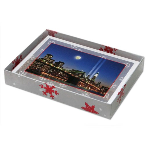 Brooklyn Bridge WTC Memorial Lights NY Christmas Cards CGC8004 box