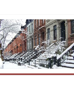 Brownstone Winter Handmade Photo Card HPC2755