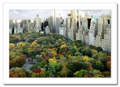 Central Park South Panorama NY Christmas Card HPC2801