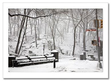 Central Park West Winter NY Christmas Card HPC2873