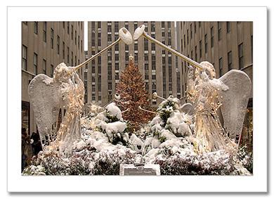 Christmas Angels at Rockefeller NY Christmas Card Center HPC-2911