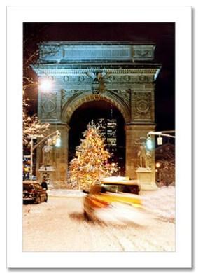 Christmas Tree Washington Arch NY Christmas Card HPC-2902