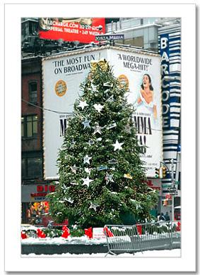 Christmas Tree on Times Square NY Christmas Card HPC-2460